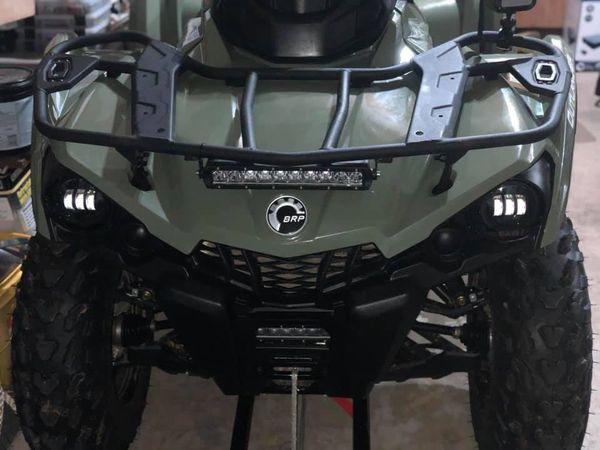 2018 outlander 570 Jeep Wrangler LED fog lights
