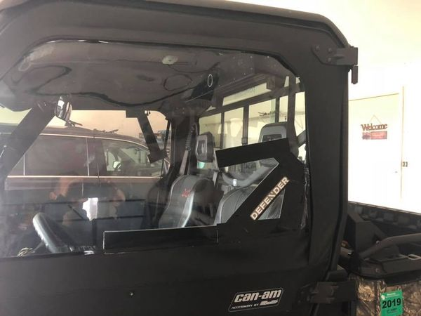Can Am Defender 1/2 windshield