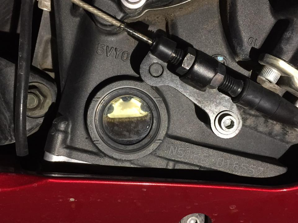 Did my first oil change on 2008 YZF R1