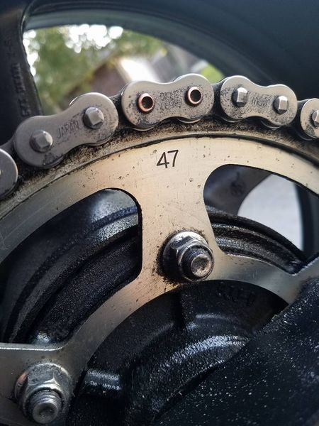 The stock gear set on a 09 is 17/47