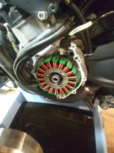 2002 YZF R1 replacing the stator