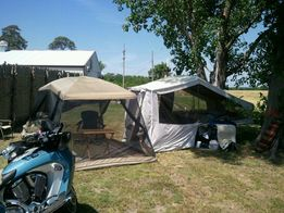 Tired of ground sleeping in a tent